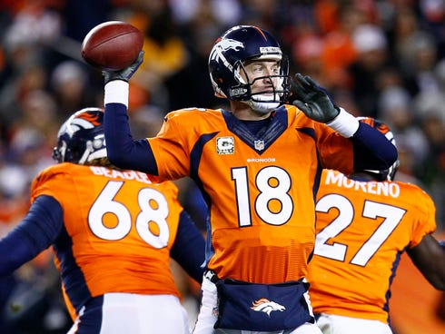 Peyton Manning was barely touched by the Cheifs' vaunted pass rush.