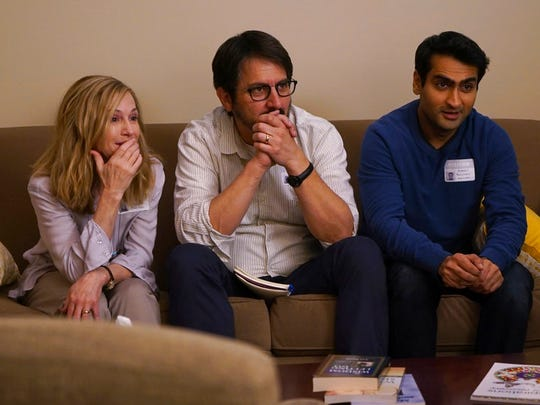 """From left, Holly Hunter, Ray Romano and Kumail Nanjiani star in """"The Big Sick.""""  The movie opens Thursday at Frank Theatres Queensgate Stadium 13 and R/C Hanover Movies."""