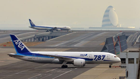 A All Nippon Airways' (ANA) Boeing 787 Dreamliner is