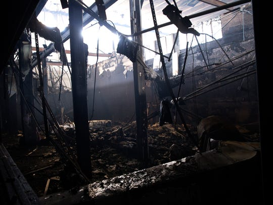A fire on Wednesday afternoon extensively damaged a