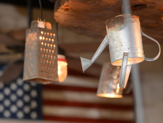 The decor at Tejas incorporates recycled with Americana.