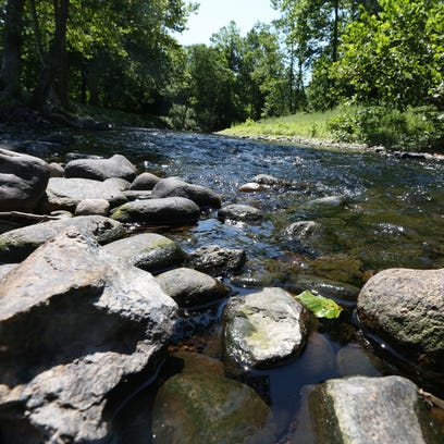 The Ramapo River in Hillburn July 21, 2016. Declining