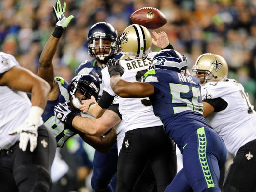 Seahawks make statement by romping Saints at home