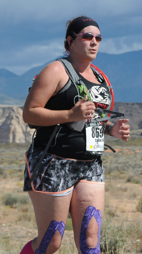 Spectrum Media's audience analyst, Casie Forbes, competes in the 2015 St. George Marathon Saturday, Oct. 3, 2015.