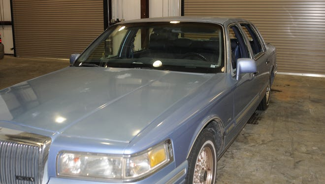 The Lafayette (La.) Police Department released photos of John Russell Houser's car Tuesday, July 28, 2015. Officers hope that seeing the 1995 Lincoln Continental will jog people's memories.