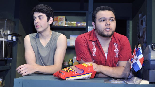 """Dominic Chapa and Dominic Grijalva star in th COS' production of """"In the Heights."""""""