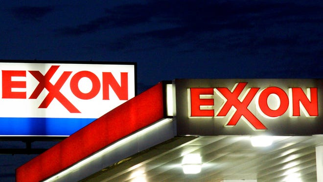 This file photo taken on September 20, 2008 shows an Exxon sign at a station in Manassas, Virginia.  (AFP/KAREN BLEIER/AFP/Getty Images)