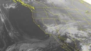 NOAA satellite image taken Monday, Feb. 23.