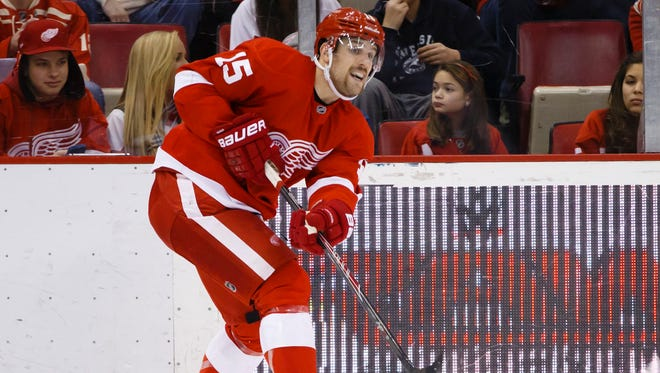 Red Wings center Riley Sheahan