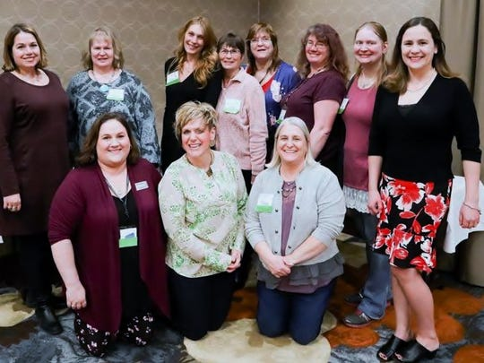 FWS 2019 committee with keynote speaker, Katie Dilse (kneeling, 2nd from left)