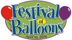 The Festival of Balloons will be held April 10.