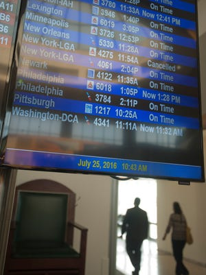New regional airline company OneJet made its debut in Louisville with its maiden voyage 7-passenger-seat plane with its estimated on-time arrival  at Louisville International Airport from Pittsburg at 10:25 a.m. (as seen on the arrivals board.)25 July, 2016