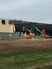 Much progress made on new FedEx Ground Distribution Center in Farmington. (Photo submitted on Dec. 18.)