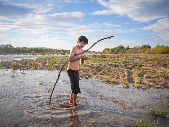 Las Cruces native Domingo Cadena, 14, searches for