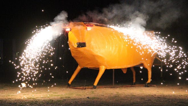 Attendees at the Dia de los Muertos and the Burning of the Bull appreciated the burning of the bull ceremony.