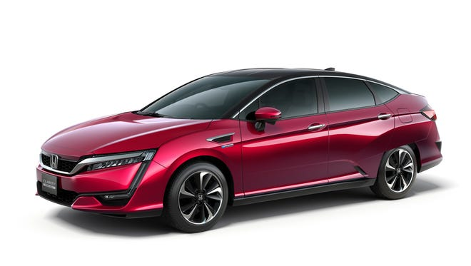 The Honda FCV, officially named the Clarity Fuel Cell, will be revealed at the 44th Tokyo Motor Show 2015 on Oct. 28, 2015.