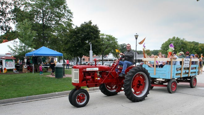 Visitors to Greendale's downtown could go for a hay ride during Hay Days on Sept. 24.