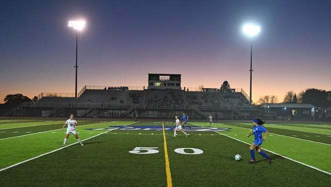 Cambridge Springs and Iroquois meet in a District 10 Class 1A girls soccer semifinal, Oct. 28, 2019, at Carm Bonito Field at Fort LeBoeuf High School in Waterford. Iroquois defeated Cambridge Springs 1-0 in overtime.