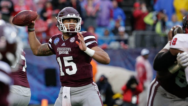 Dak Prescott closes his Mississippi State career with four TD passes and a Belk Bowl win.