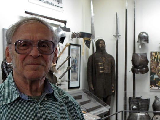 Gary Schlosstein, a retired judge, opened a museum in Alma for his arms and armor collection, which spans 2,000 years.