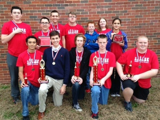 The Branson High School chess team recently won first