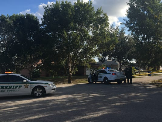 Shooting scene in east Fort Myers