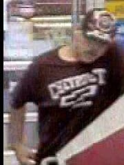 Police are searching for a white male suspect that is alleged to have stolen a TV from a West Melbourne Wal-Mart.