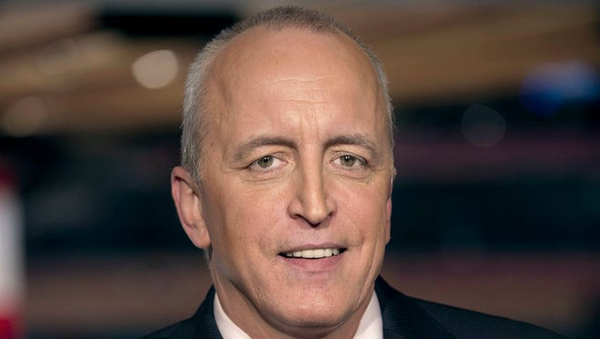 "This April 4, 2011 image released by NBC Universal shows announcer Dave Strader for ""NHL on Versus,"" in New York."