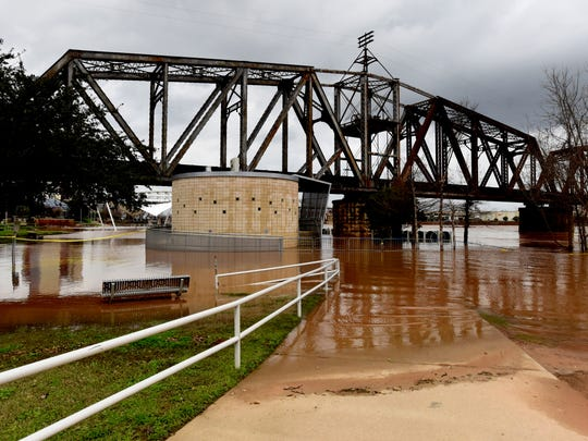 Flooding of the Red River in February 2018.