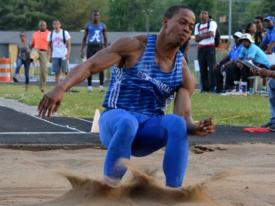 Centennial's Emanuel Hall was also an incredible track and field athlete, leaping 6-foot-8 in the high jump to win the Tennessee Class AAA state championship as a freshman