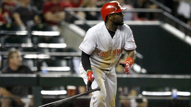 Brandon Phillips had fun with a heckler during Wednesday's game.