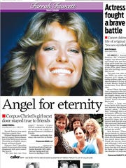 The article from Corpus Christi Caller-Times on Farrah