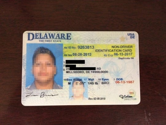 An example of the fake ID.
