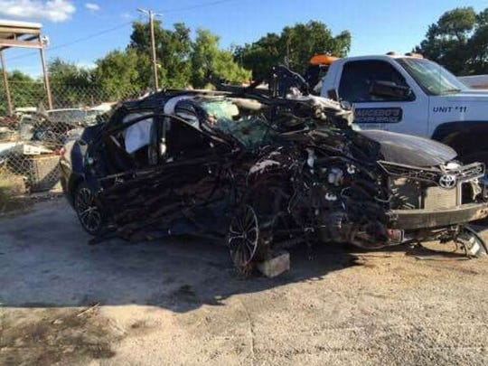 The impact was mostly on the passenger side of the vehicle Kristian Guerrero was driving.