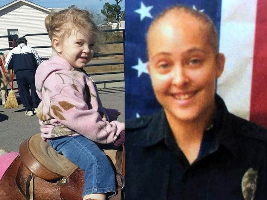 Cheyenne Hyer (left) and former officer Cassie Barker