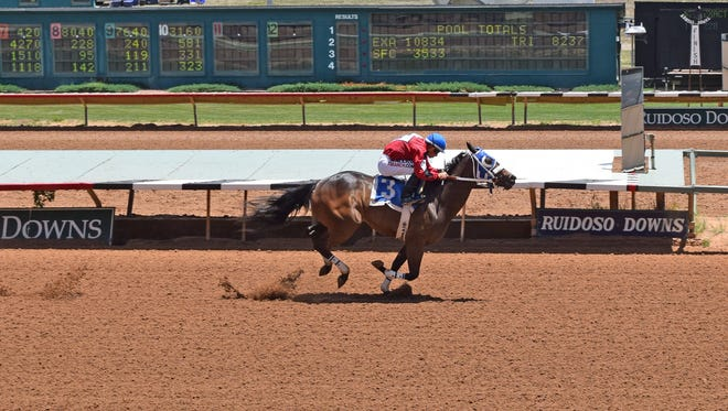 Ms Maggie Mae qualified for next month's Ruidoso Futurity on Saturday for trainer Blane Wood and jockey Ricky Ramirez. She won her trial in a time of 17.641 seconds at Ruidoso Downs Race Track and Casino.
