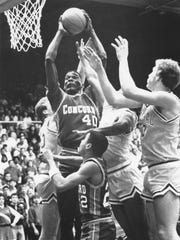 Concord High school's Shawn Kemp #40 was the 1988 Mr.