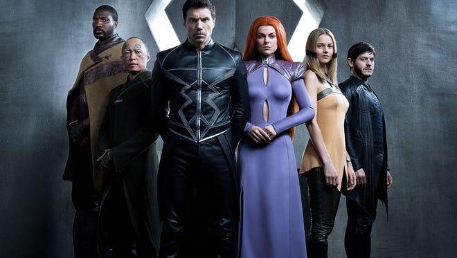 ABC's 'Marvel's Inhumans' stars Eme Ikwuakor as Gorgon, Ken Leung as Karnak, Anson Mount as Black Bolt, Serinda Swan as Medusa, Isabelle Cornish as Crystal and Iwan Rheon as Maximus.