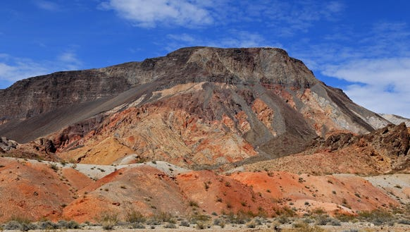 Fortification Hill rises above the Kingman Wash Access