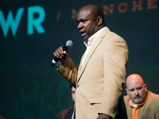Tennessee wide receiver coach David Johnson takes the