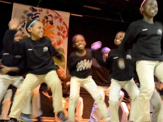 The African Children's Choir performs Thursday at the Integrated Arts Academy in Burlington.