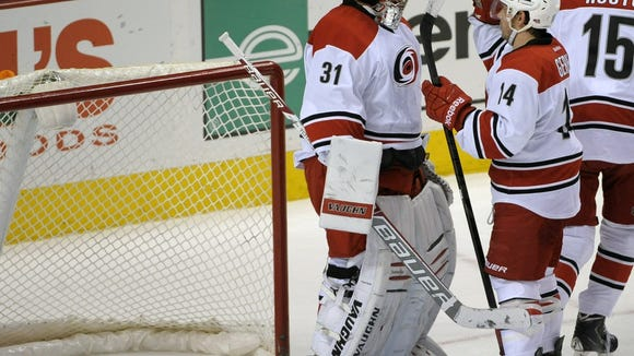 Anton Khudobin and the 'Canes got a win over the Flyers in their last trip to Philly.