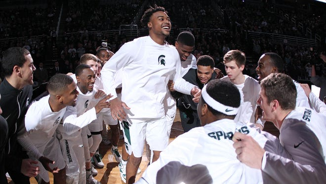 Michigan State freshman center Nick Ward has been the surprise of MSU's freshman class, averaging 13.6 points, 6.8 rebounds and 2.1 blocked shots in just 18.7 minutes per game.