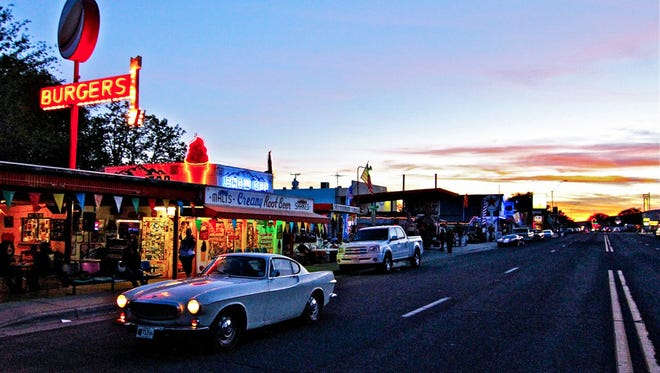 The Snow Cap Drive-In in Seligman is an icon of Route 66.