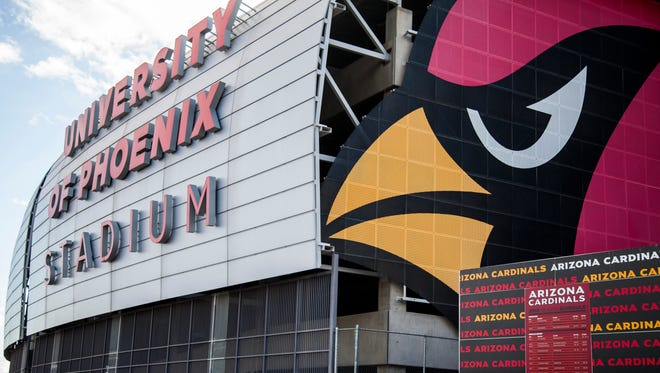 Glendale's University of Phoenix Stadium will be the site of Super Bowl next February.