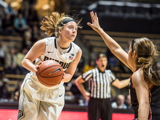 Purdue freshman guard Abby Abel first developed interest