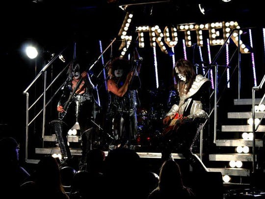 The Kiss tribute band called Strutter will rock out at The Moon on Wednesday at The Moon.