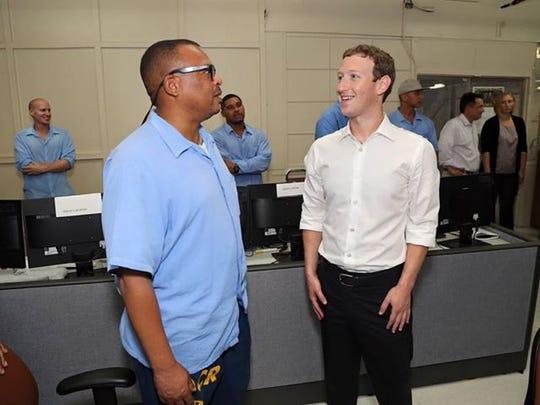 Facebook CEO Mark Zuckerberg visits a coding boot camp
