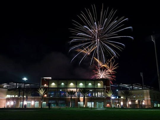 Fireworks have lit up the sky over Blue Wahoos Stadium