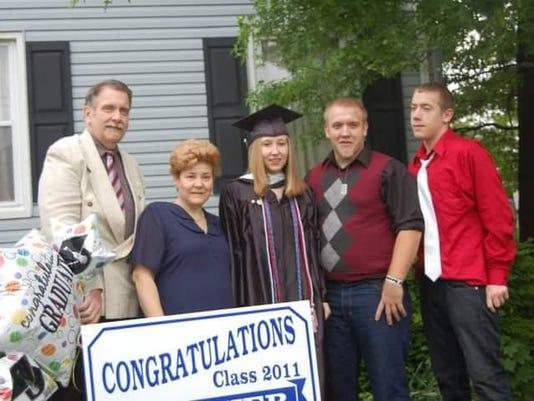 Bruce Arlett, with family